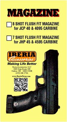 Picture of IBERIA 8 ROUND MAGAZINE FOR THE HI-POINT JCP MODEL HANDGUN. BY IBERIA ACCESSORIES